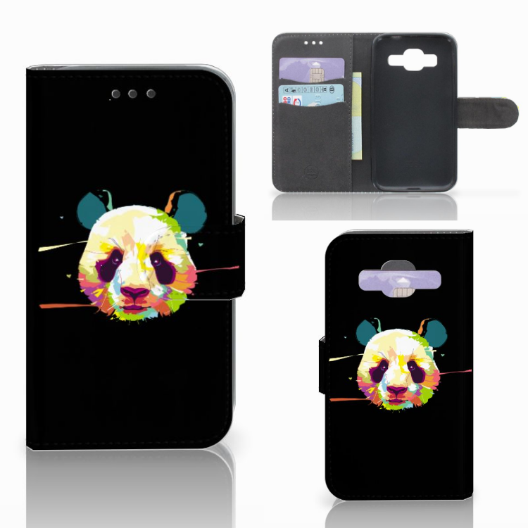 Samsung Galaxy Core Prime Leuke Hoesje Panda Color