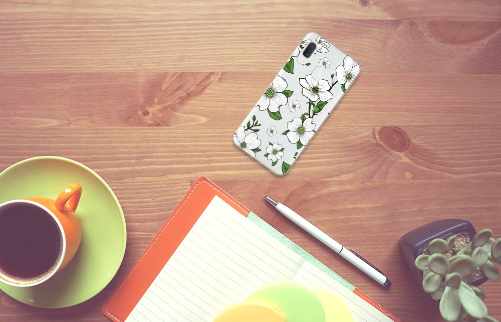Samsung Galaxy A20e TPU Case Dogwood Flowers