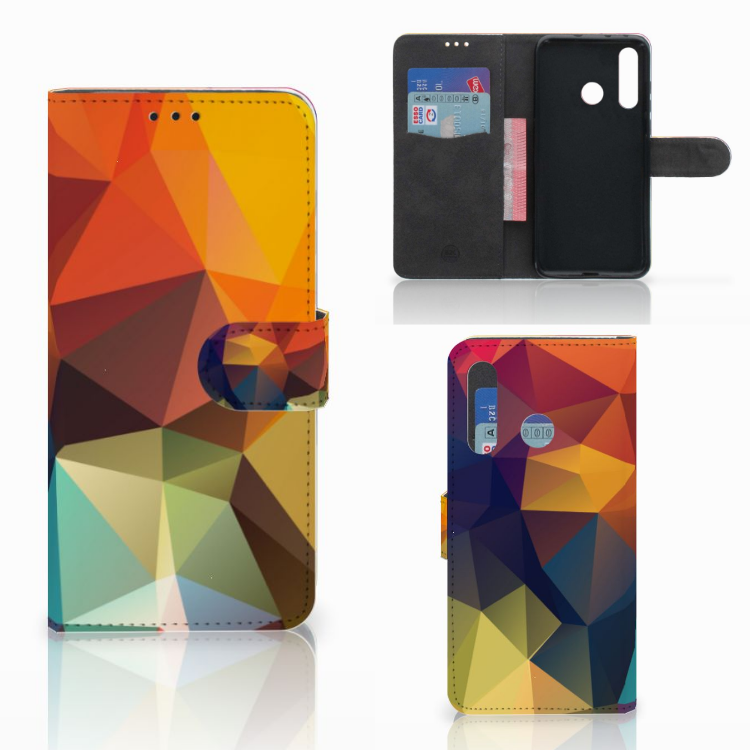 Huawei Nova 4 Bookcase Polygon Color