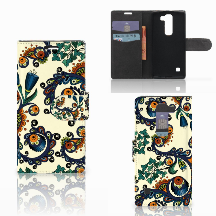 Wallet Case LG Spirit Barok Flower