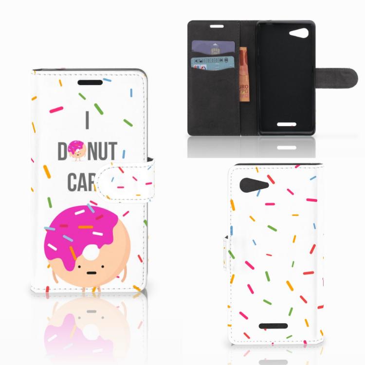 Sony Xperia E3 Book Cover Donut Roze