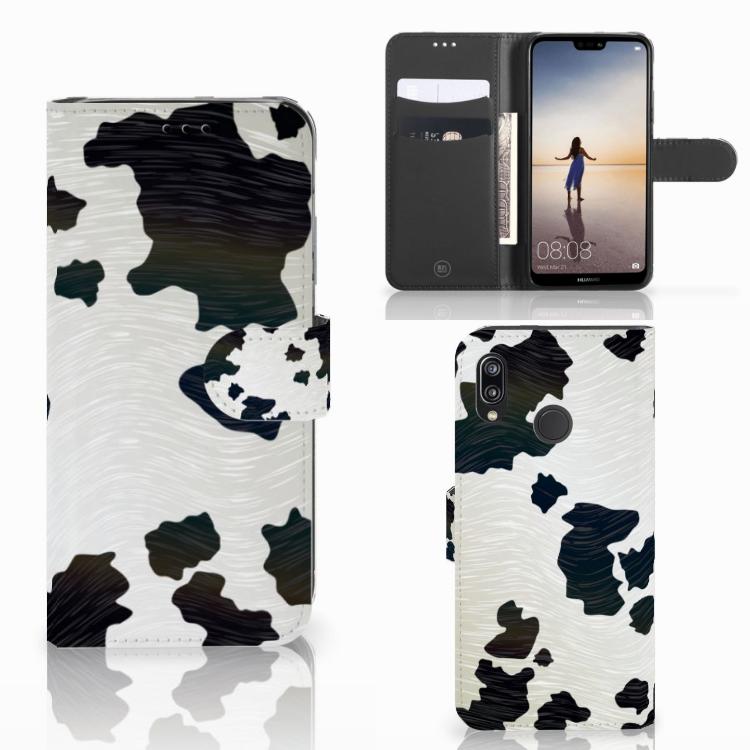 Huawei P20 Lite Telefoonhoesje met Pasjes Koeienvlekken