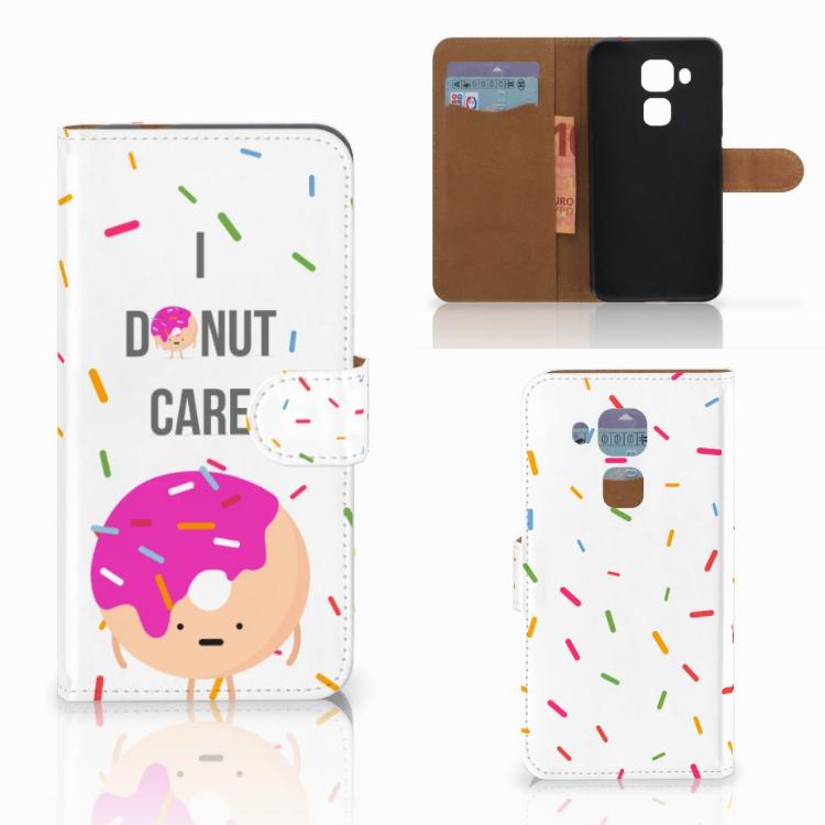 Huawei Nova Plus Book Cover Donut Roze