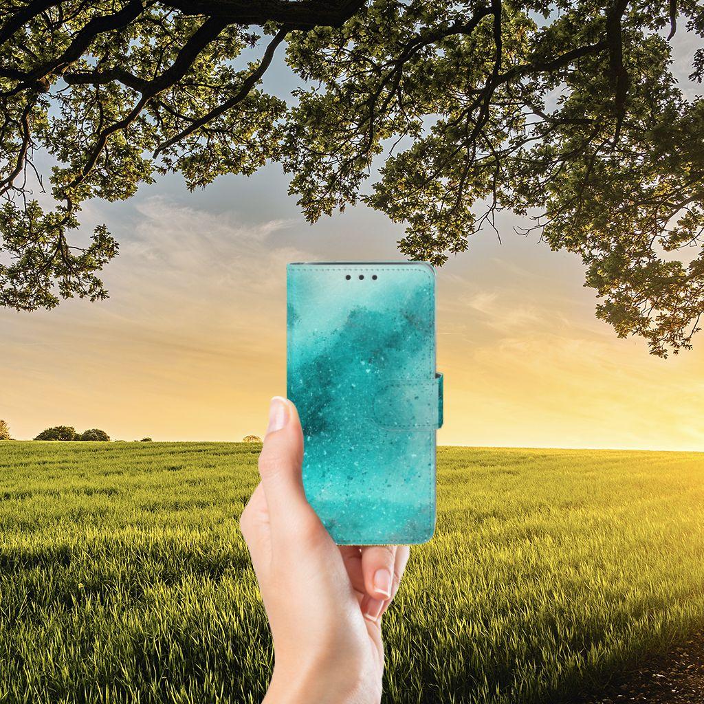 Samsung Galaxy J5 (2015) Uniek Boekhoesje Painting Blue