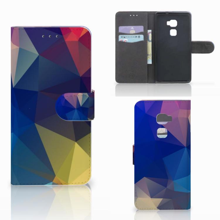 Huawei Mate S Bookcase Polygon Dark