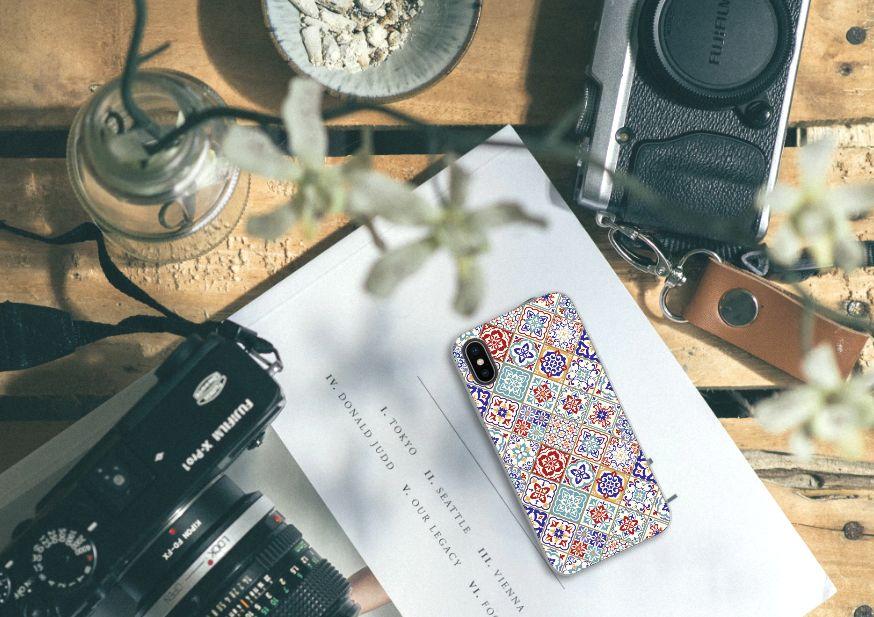 Apple iPhone X | Xs Uniek TPU Hoesje Tiles Color
