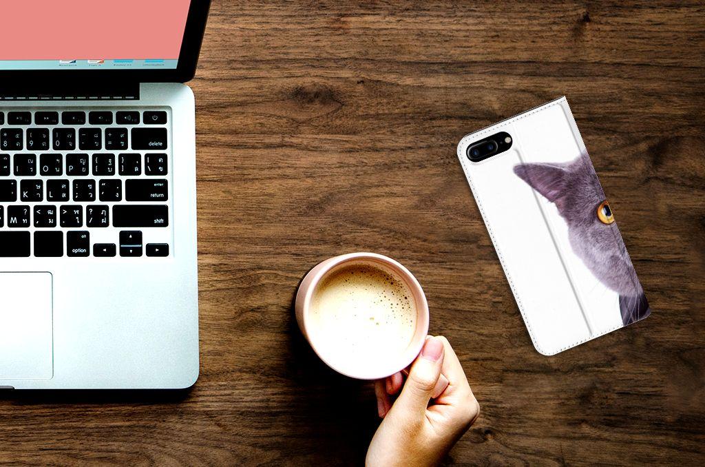 Apple iPhone 7 Plus | 8 Plus Hoesje maken Kat