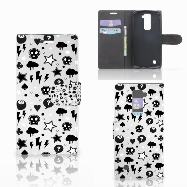 Telefoonhoesje met Naam LG K10 2015 Silver Punk