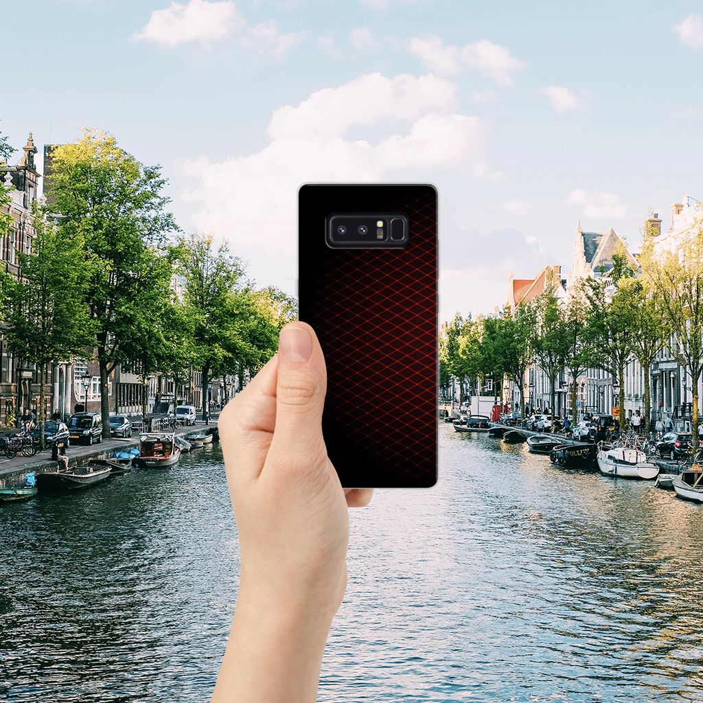 Samsung Galaxy Note 8 TPU bumper Geruit Rood