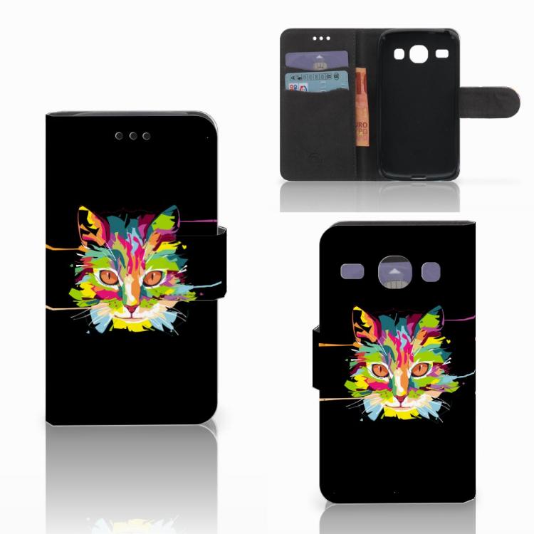Samsung Galaxy Core i8260 Leuk Hoesje Cat Color