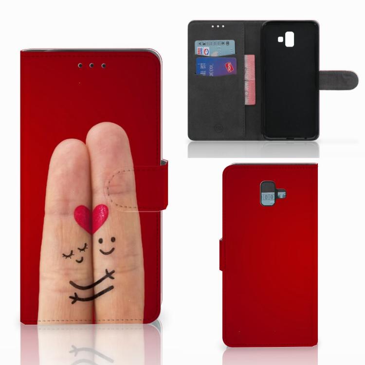 Samsung Galaxy J6 Plus (2018) Wallet Case met Pasjes Liefde - Origineel Romantisch Cadeau