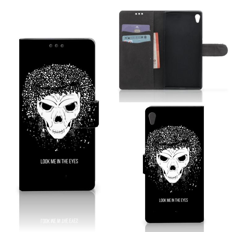 Telefoonhoesje met Naam Sony Xperia XA Ultra Skull Hair