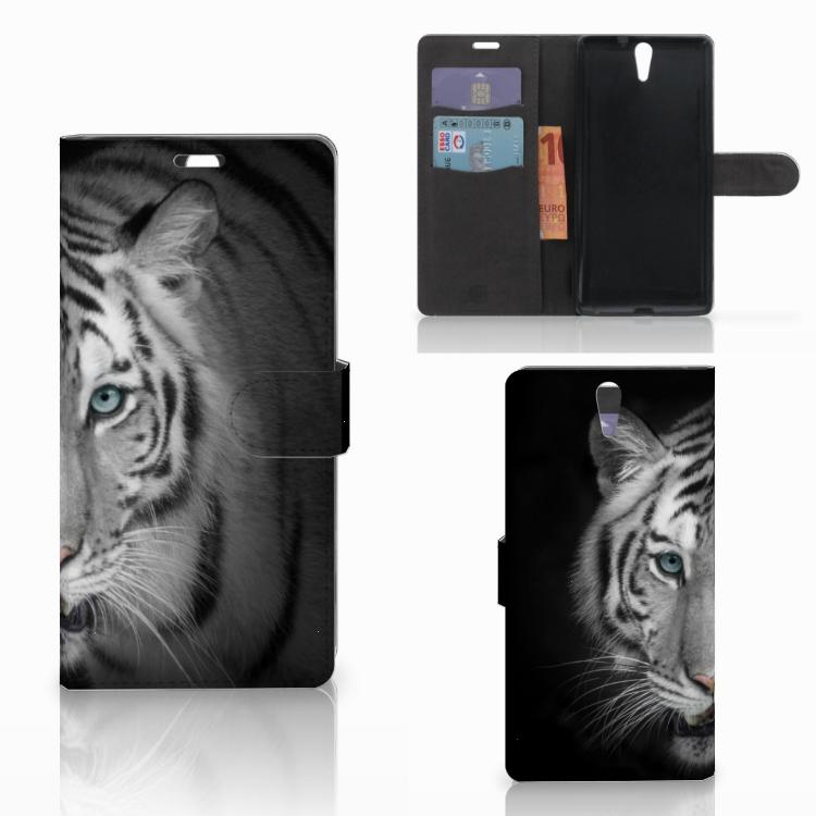 Sony Xperia C5 Ultra Telefoonhoesje met Pasjes Tijger