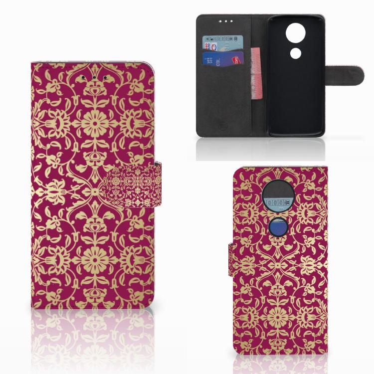 Wallet Case Motorola Moto E5 Plus Barok Pink