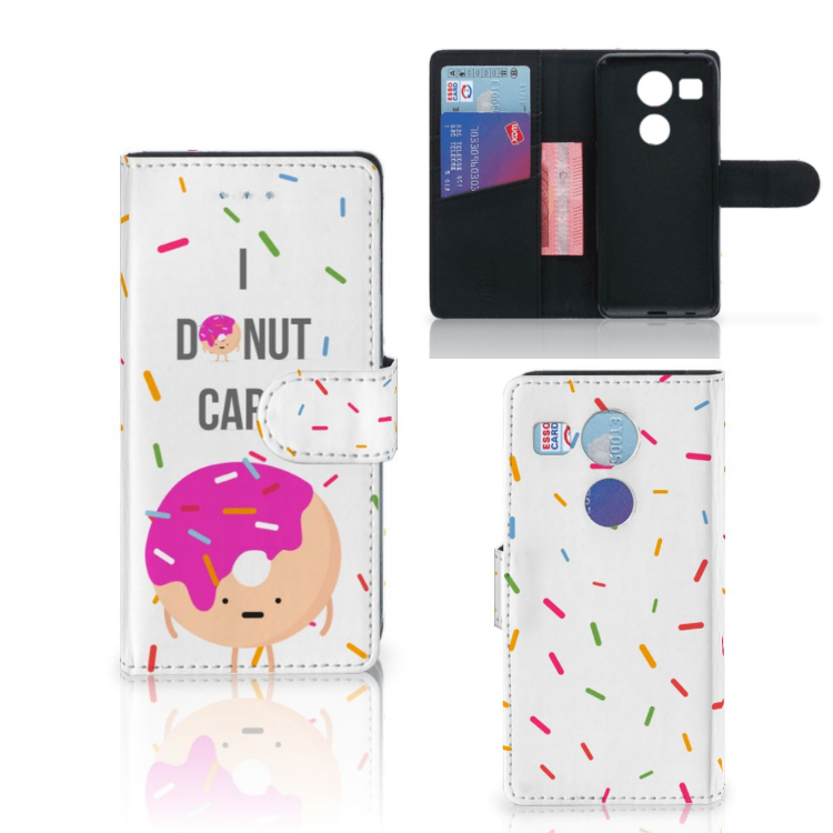 LG Nexus 5X Book Cover Donut Roze