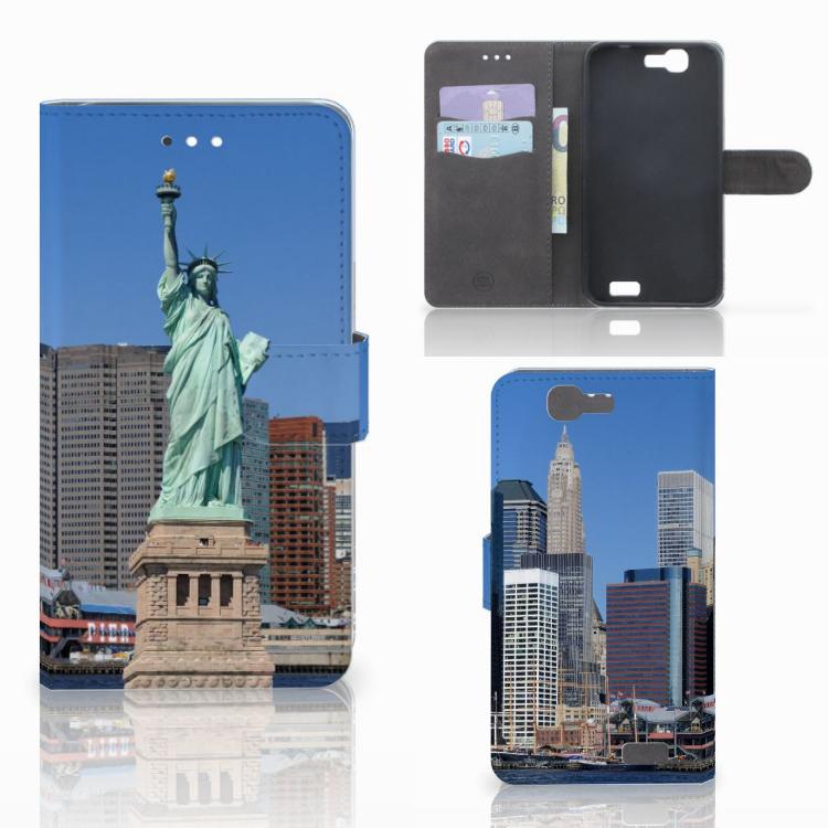 Huawei Ascend G7 Flip Cover Vrijheidsbeeld