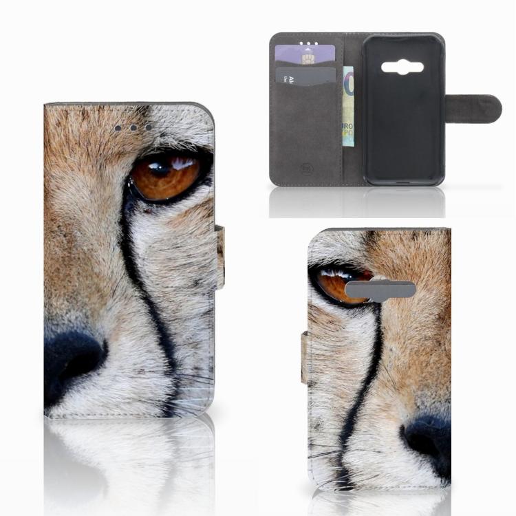 Samsung Galaxy Xcover 3 | Xcover 3 VE Telefoonhoesje met Pasjes Cheetah
