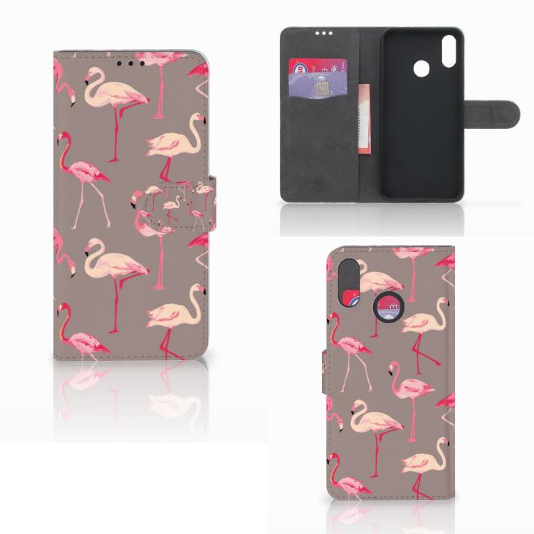 Huawei P Smart Plus Telefoonhoesje met Pasjes Flamingo
