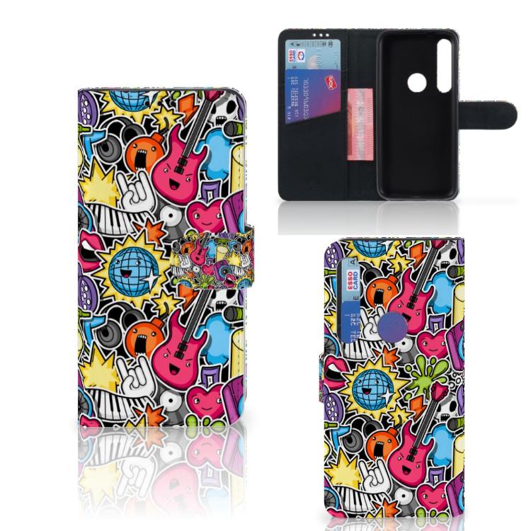 Motorola Moto G8 Plus Wallet Case met Pasjes Punk Rock