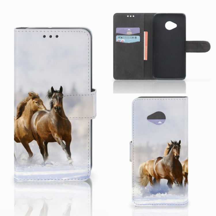 HTC U11 Life Telefoonhoesje met Pasjes Paarden