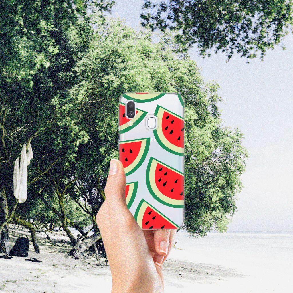 Samsung Galaxy A40 Siliconen Case Watermelons