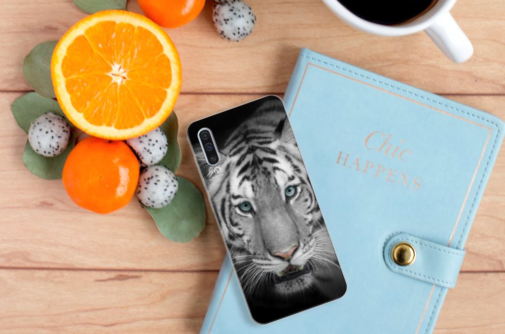 Samsung Galaxy A50 TPU Hoesje Tijger