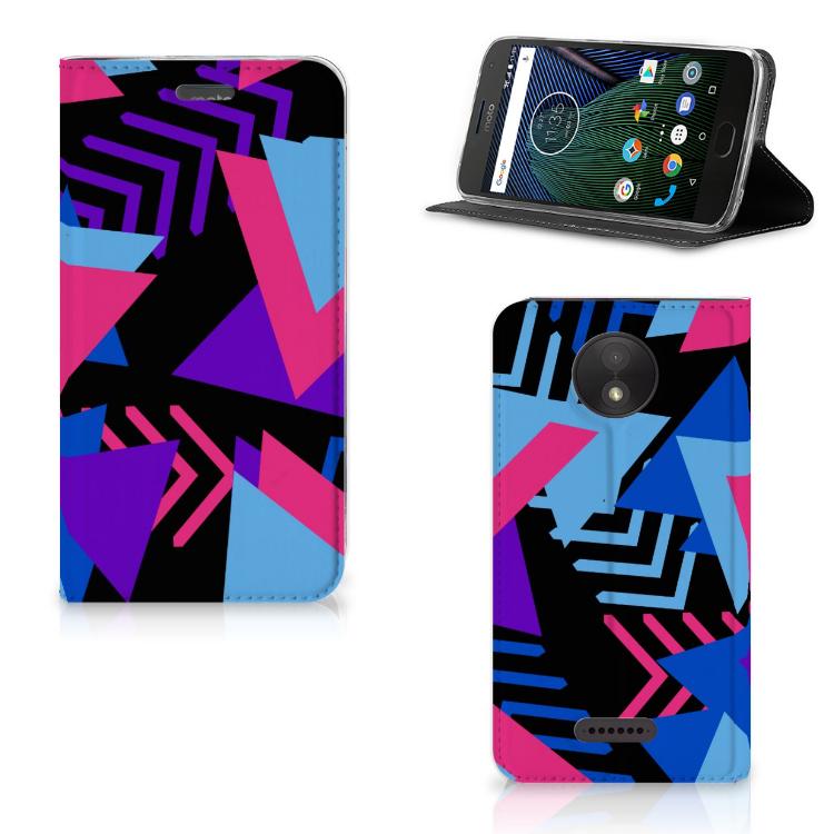 Motorola Moto C Plus Stand Case Funky Triangle