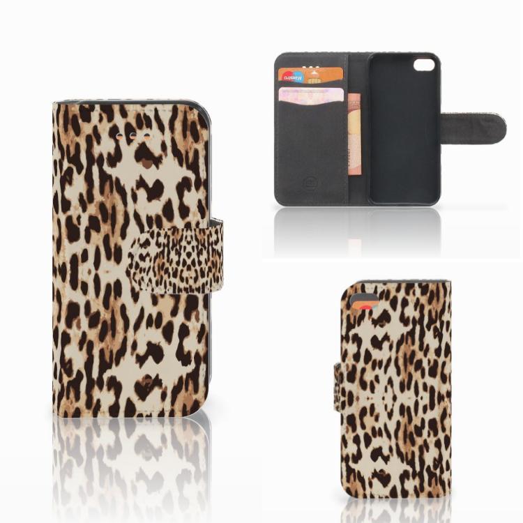 Apple iPhone 5C Telefoonhoesje met Pasjes Leopard