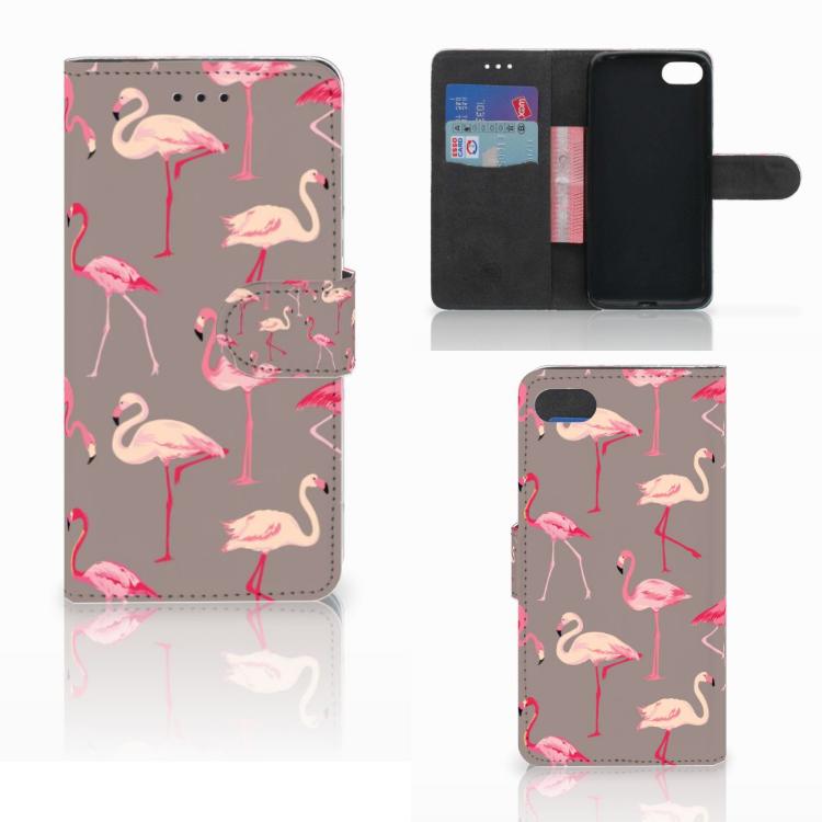 Huawei Y5 2018 Telefoonhoesje met Pasjes Flamingo