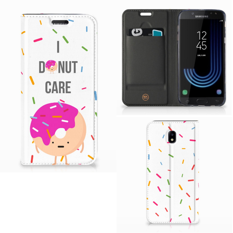 Samsung Galaxy J5 2017 Flip Style Cover Donut Roze