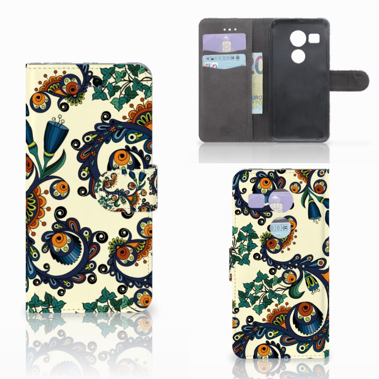 Wallet Case LG Nexus 5X Barok Flower