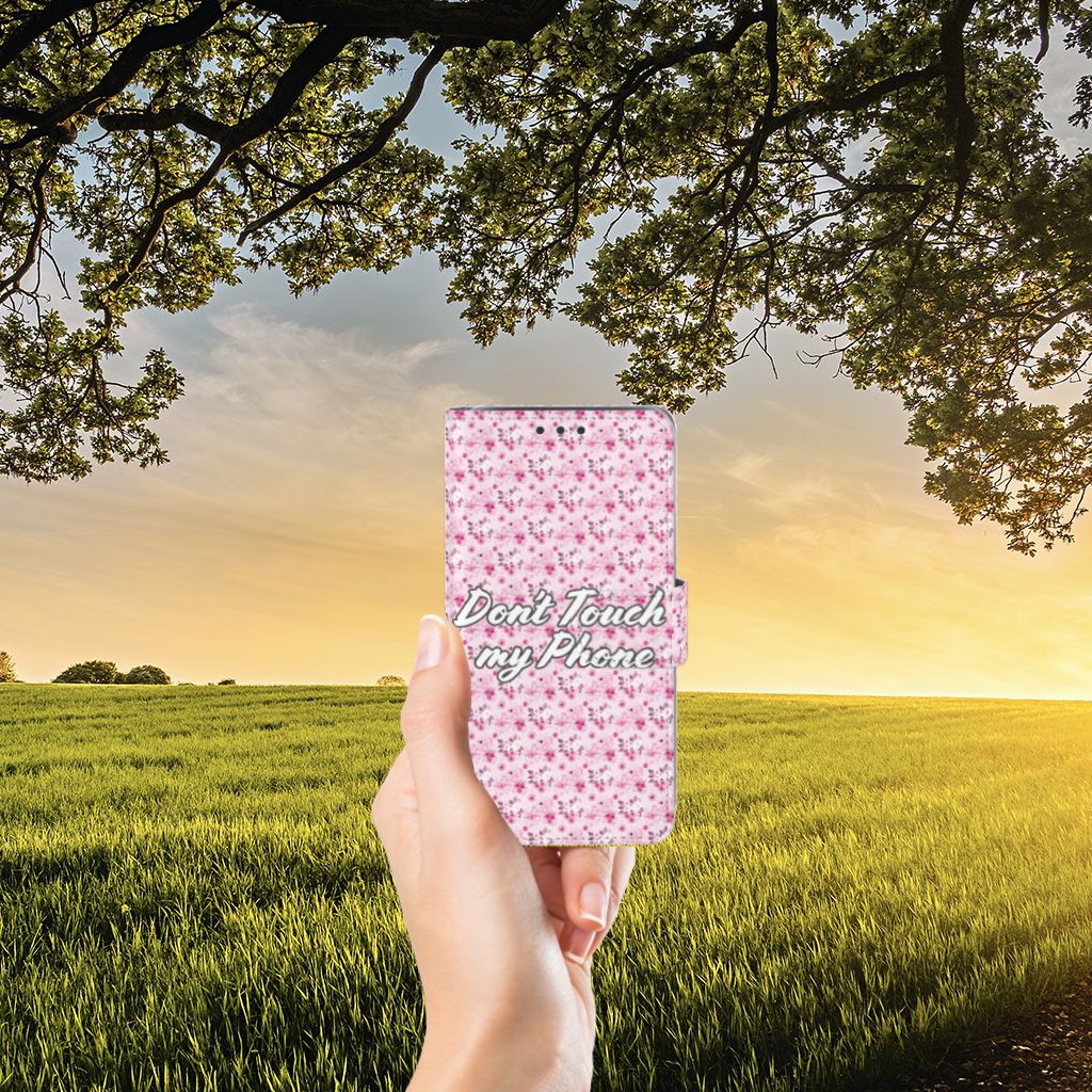Samsung Galaxy J5 (2015) Uniek Boekhoesje Flowers Pink DTMP