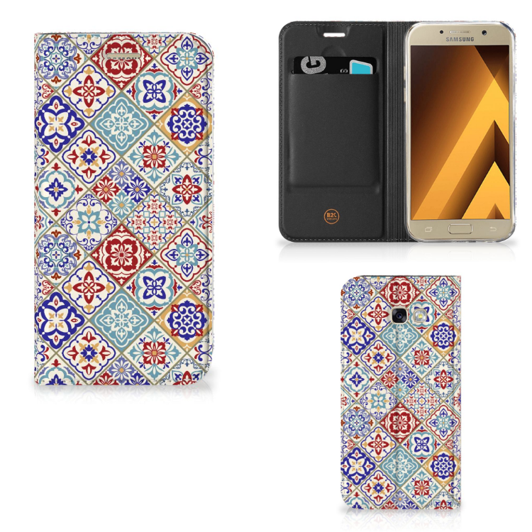 Samsung Galaxy A5 2017 Standcase Tiles Color
