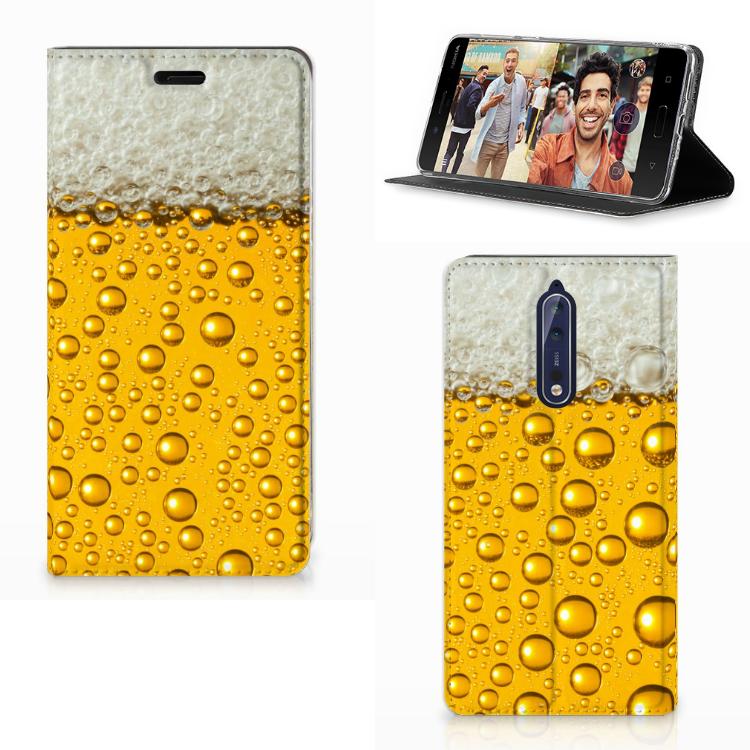 Nokia 8 Flip Style Cover Bier