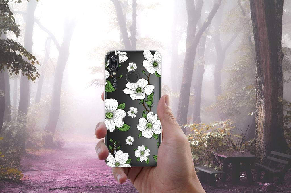Huawei P20 Lite TPU Case Dogwood Flowers