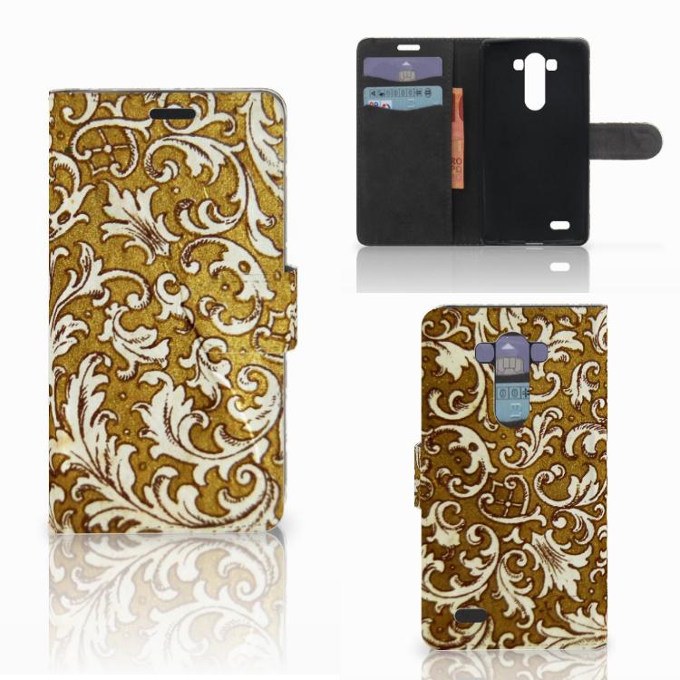 Wallet Case LG G3 Barok Goud