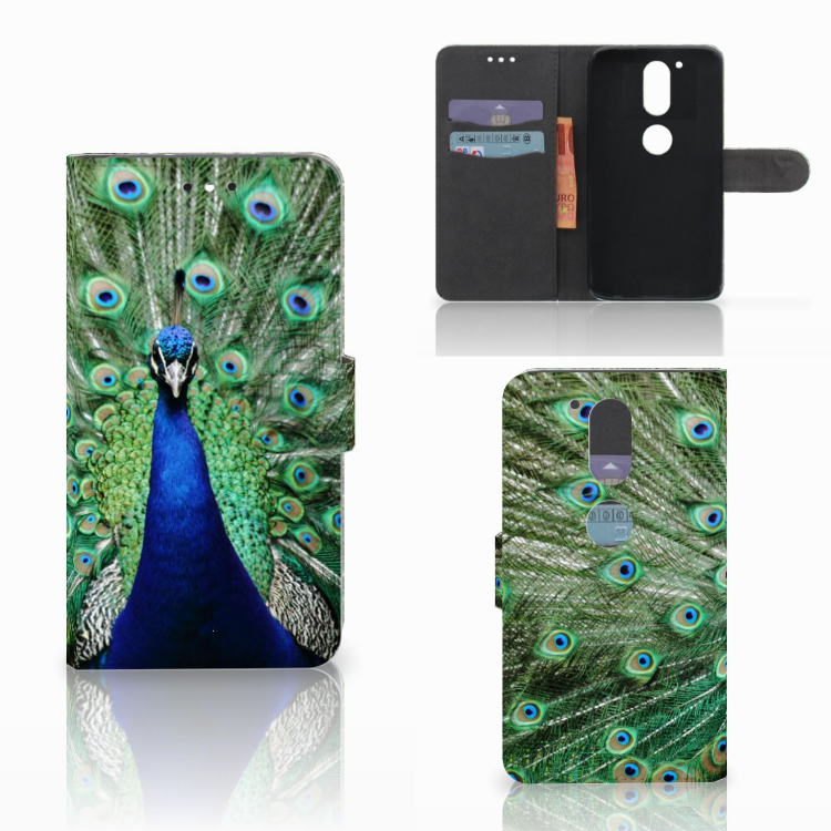 Motorola Moto G4 | G4 Plus Telefoonhoesje met Pasjes Pauw
