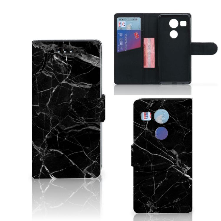 LG Nexus 5X Bookcase Marmer Zwart - Origineel Cadeau Vader