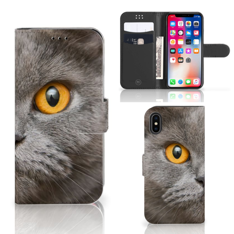 Telefoonhoesje met Pasjes Apple iPhone X | Xs Britse Korthaar