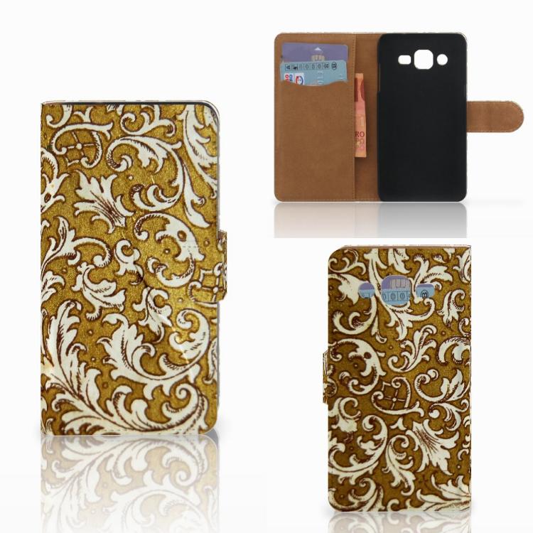 Wallet Case Samsung Galaxy J2 (2015) Barok Goud