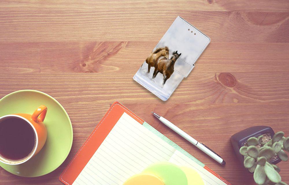 Samsung Galaxy S5 | S5 Neo Uniek Boekhoesje Paarden