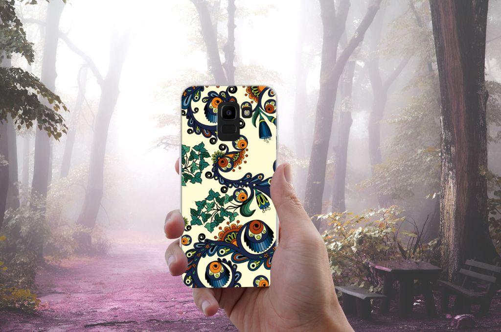 Samsung Galaxy J6 2018 TPU Hoesje Design Barok Flower