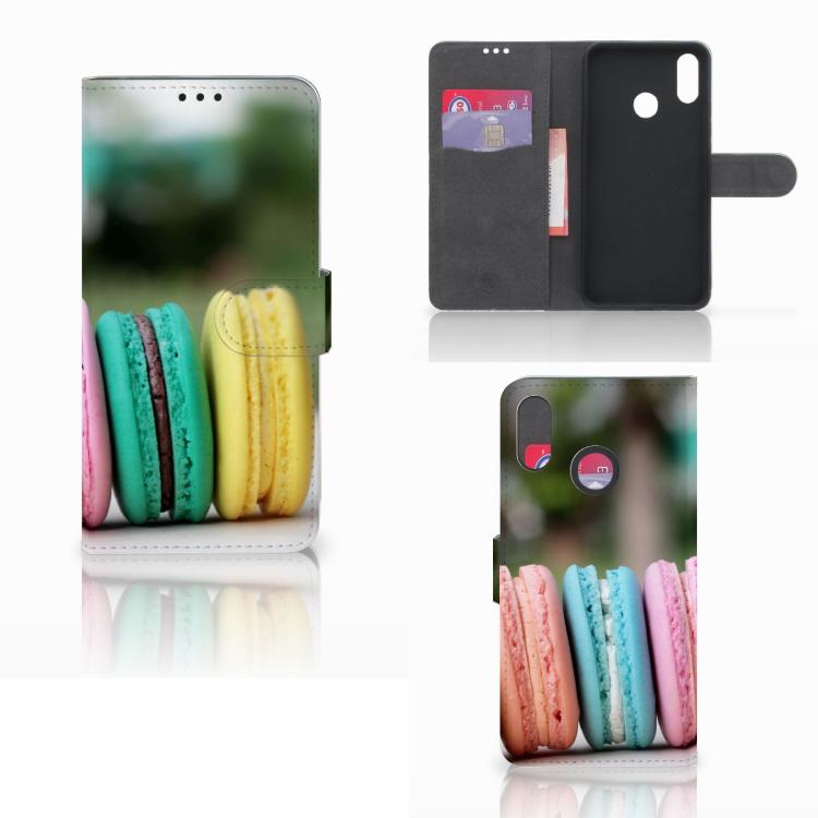 Huawei P Smart Plus Book Cover Macarons