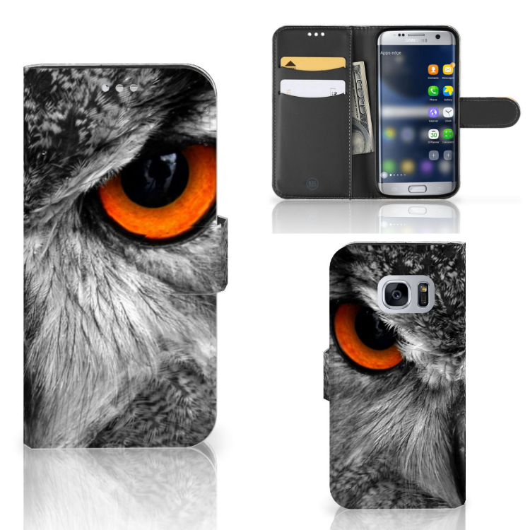 Samsung Galaxy S7 Telefoonhoesje met Pasjes Uil