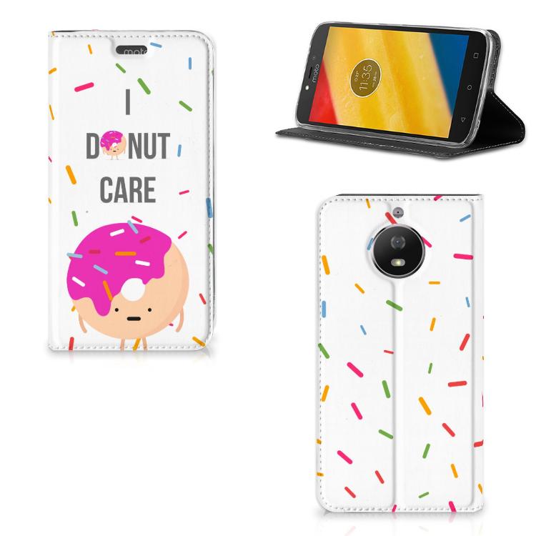 Motorola Moto G5S Flip Style Cover Donut Roze