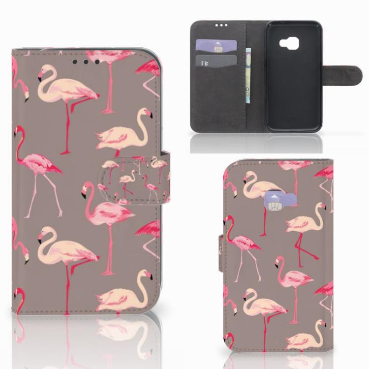 Samsung Galaxy Xcover 4   Xcover 4s Telefoonhoesje met Pasjes Flamingo