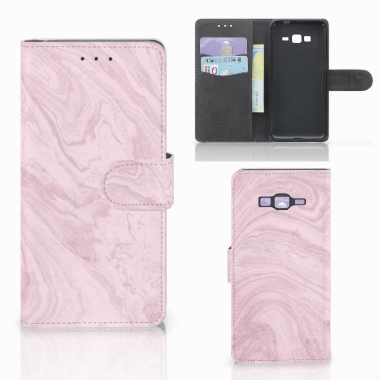 Samsung Galaxy Grand Prime | Grand Prime VE G531F Bookcase Marble Pink - Origineel Cadeau Vriendin