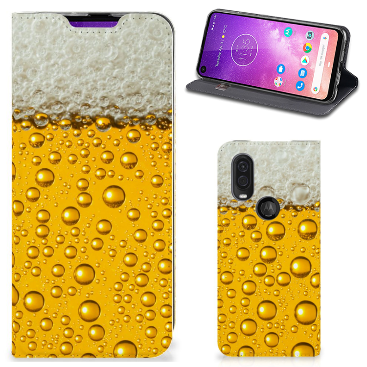 Motorola One Vision Flip Style Cover Bier