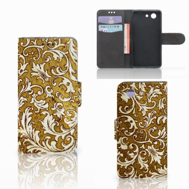 Wallet Case Sony Xperia Z3 Compact Barok Goud