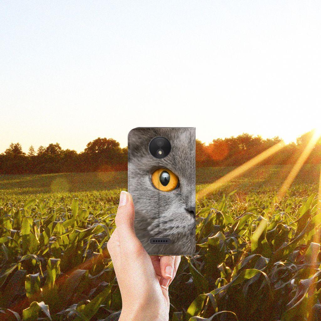 Hoesje maken Motorola Moto C Plus Britse Korthaar